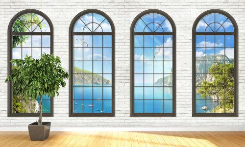 Фотообои Море за окном (loft-20)