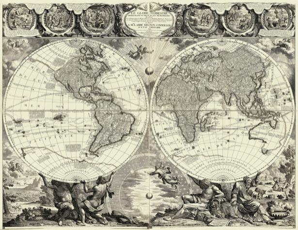 атлас, география, карты, старая карта (map-0000137)