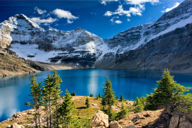 Фотообои вид на горное озеро (nature-0000672)