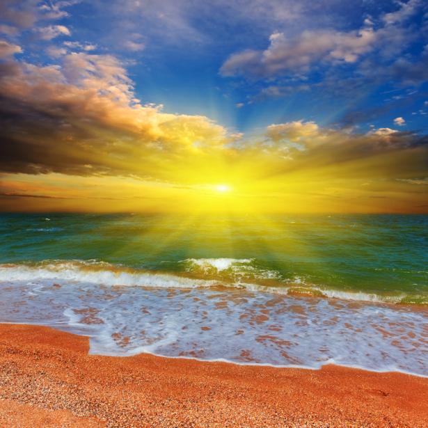 Фотообои море закат берег (nature-00588)