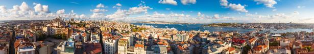 Фотообои Пролив Босфор и залив Золотой Рог (panorama-56)