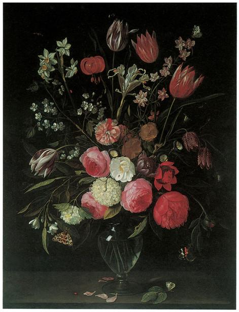 натюрморт с цветами и фруктами (pf-69)