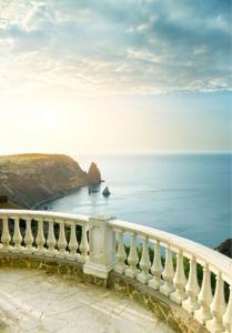 Фотообои терраса с видом на море (printmaking-0000101)