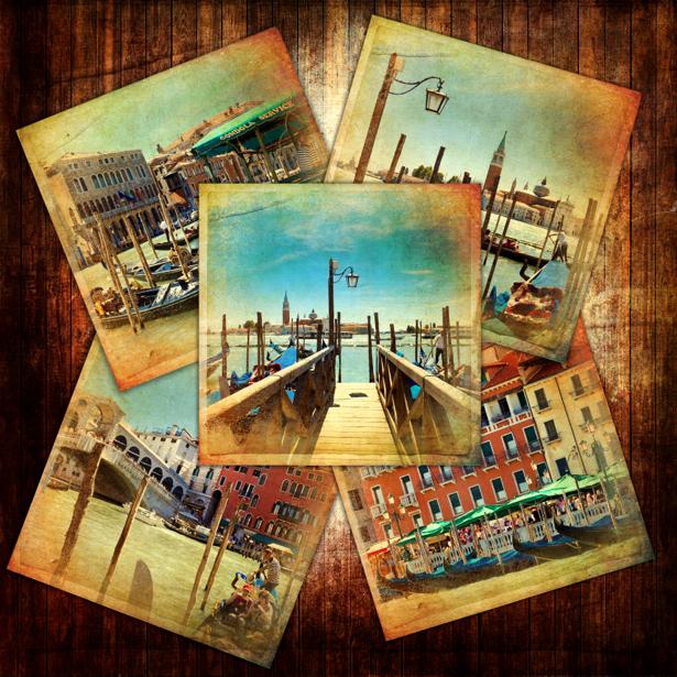 Фотообои открытки ретро (retro-vintage-0000164)