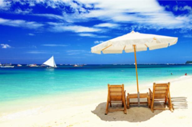 Фотообои фото море зонтик на пляже (sea-0000051)