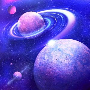 Фотообои взаимодействия космических тел (space-0000025)