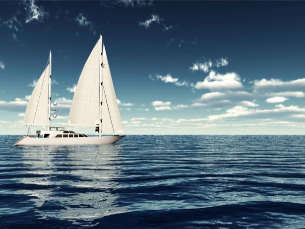 Фотообои фото яхта в море (transport-0000140)