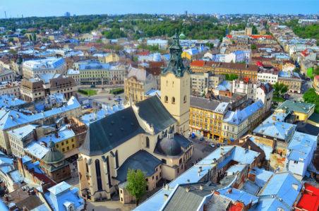 Фотообои Солнечные Львовские крыши (ukr-62)