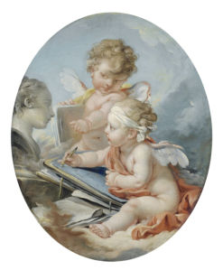 Обои с амурами ангелами фреска (angel-00067)