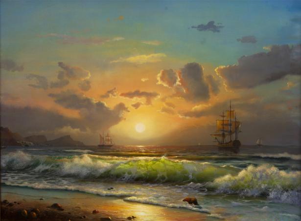 Фотообои корабли в море (art-0000710)