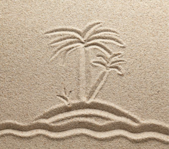 Фотошторы остров на песке (bathroom-curtain-00004)
