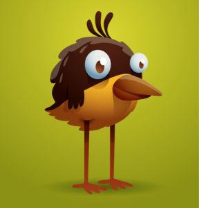 Птица шоколадная фотообои детские (children-0000276)