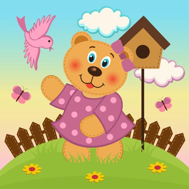 Мишка Тедди детские фотообои (children-0000298)