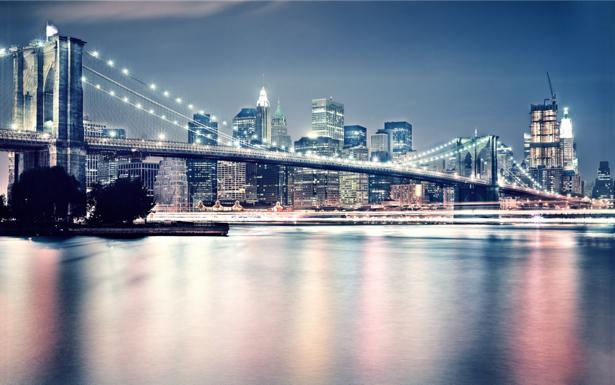 Фотообои Бруклинский мост и Манхэттен (city-0000443)