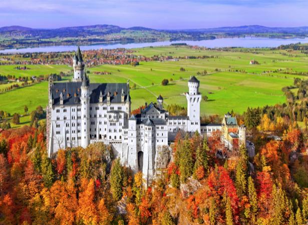 Фотообои Замок Нойшванштайн Германия (city-0000746)