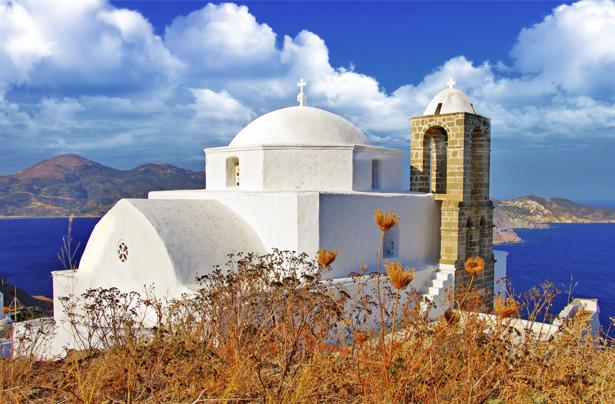 Фотообои Греция ландшафт храм (city-0001201)
