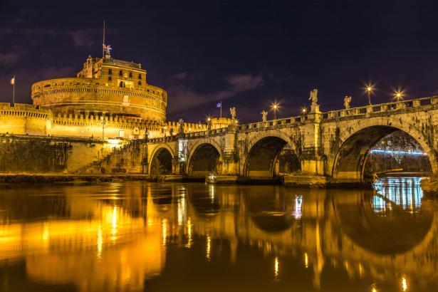 Фотообои Рим мост Сант Анджело (city-0001275)