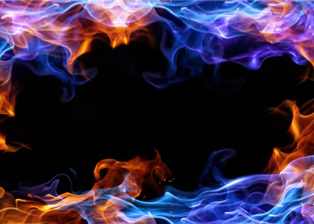 Фотообои пламя в темноте (fantasy-0000036)