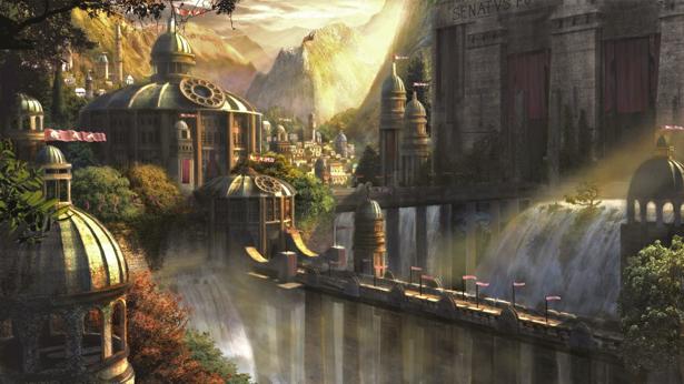 Фотообои фентезийный город (fantasy-0000109)