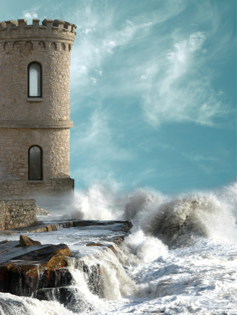 Фотообои крепость в море (fantasy-0000139)