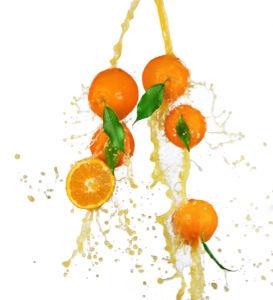 Фото Обои на кухню апельсин в соке (food-0000013)