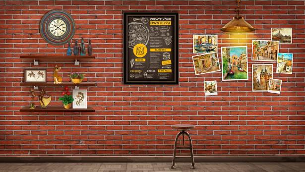 Фотообои фотографии на стене (loft-5)
