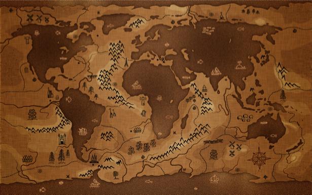 Фотообои старая карта (map-0000203)