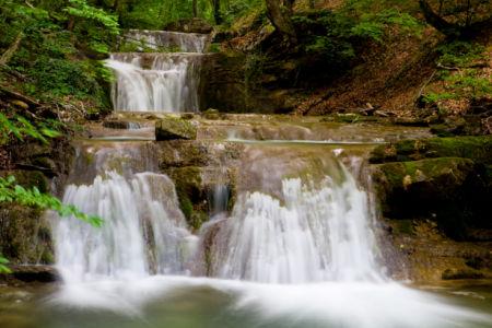 Фотообои с природой водопад каскадный (nature-00021)