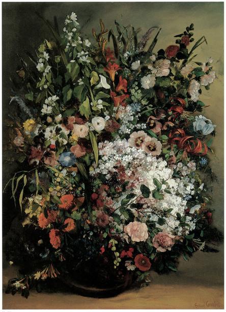 Гюстав Курбе букет цветов (pf-34)
