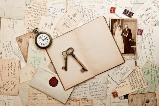 Фотообои письма и открытки ретро (retro-vintage-0000085)