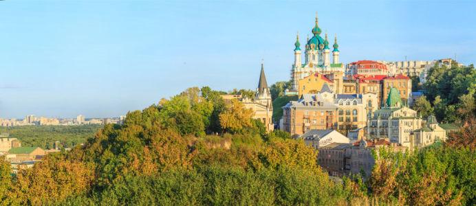 Фотообои панорама на Андреевскую церковь (ukr-39)