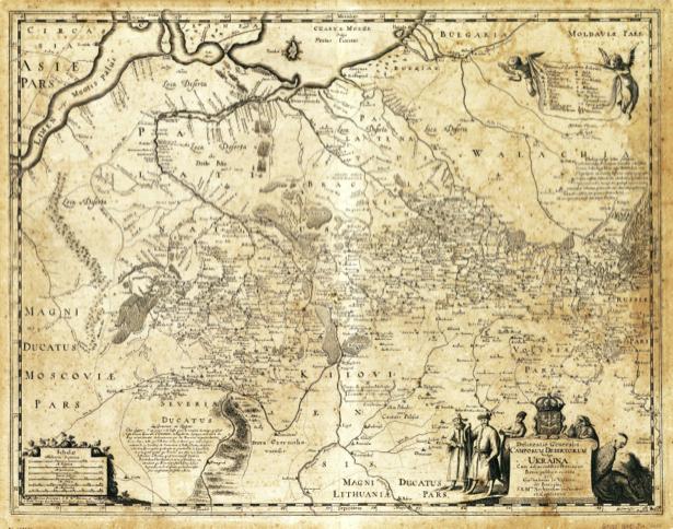 Генеральная карта Украины, 1648 г (ukraine-0047)