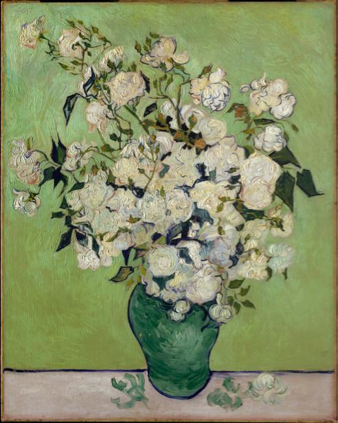 Живописные фотообои цветы -  Натюрморт с цветами (art-0000287)