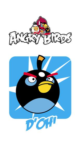 Детские фотообои Злые птицы (children-0000153)