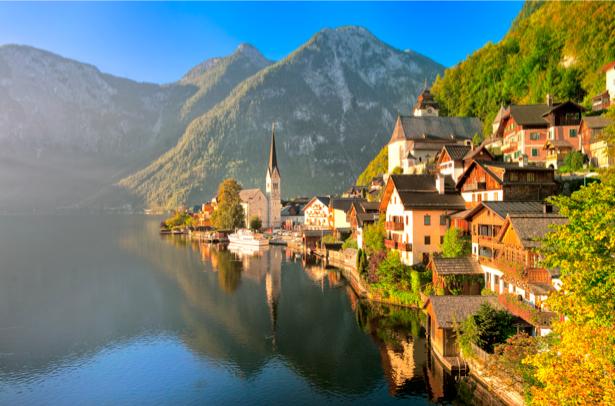 Фотообои Европа дома горы (city-0000540)