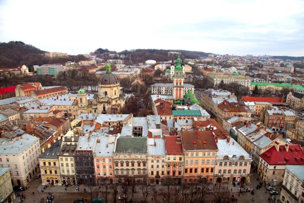 Фотообои Львов костел (city-0000642)