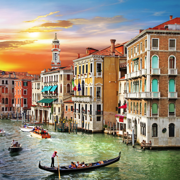 Фотообои канал в Венеции (city-0000655)