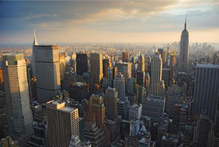 Фотообои Нью-Йорка, Манхеттен сверху (city-0000972)