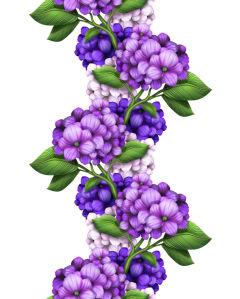 Фотообои гирлянда гортензии (flowers-755)