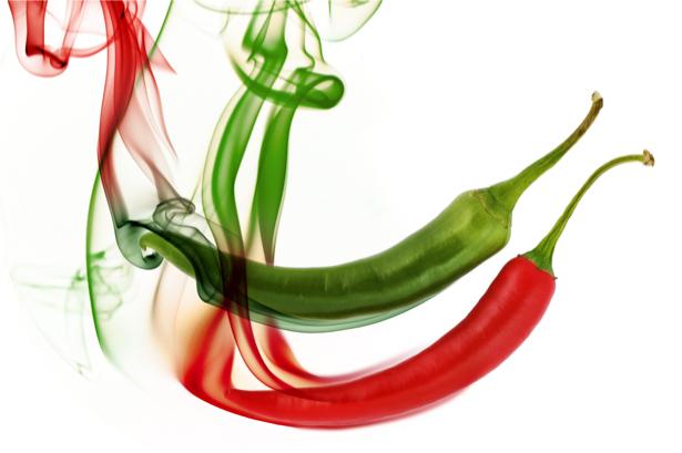 Фотообои прец чили красный и зеленый (food-0000113)