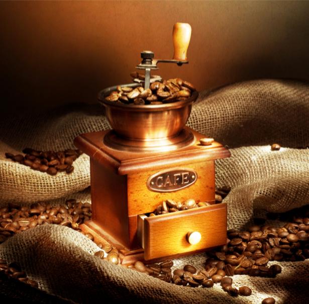 Фотообои кухня кофемолка зерна кофе (food-0000158)