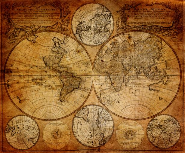 атлас, география, карты, старая карта (map-0000156)