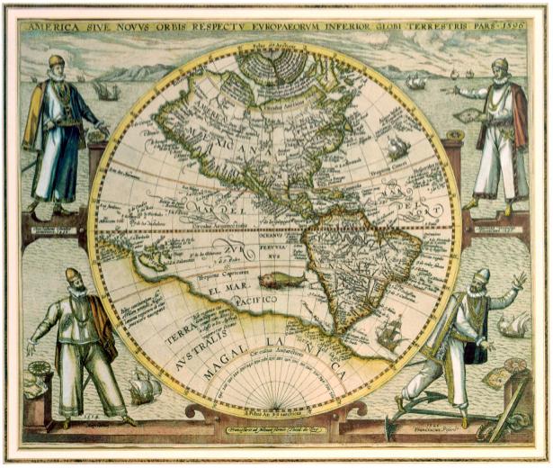 Фотообои карта територий 1596 год (map-0000179)