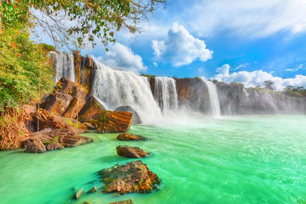 Фотообои водопад панорама фото (nature-0000713)