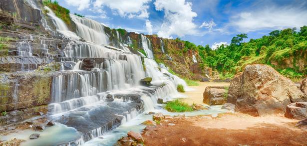 Фотообои горный водопад каскады (nature-0000715)