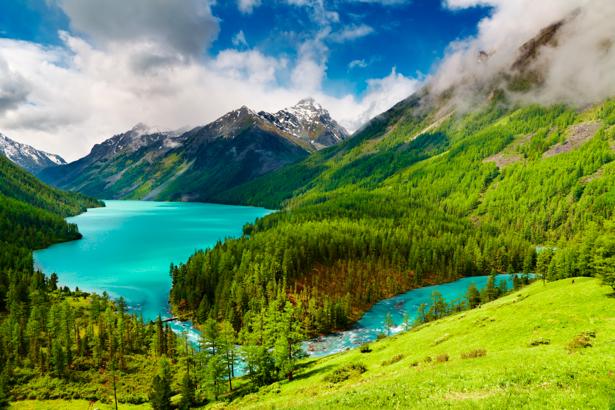 Фотообои с природой озеро горное небо (nature-00009)
