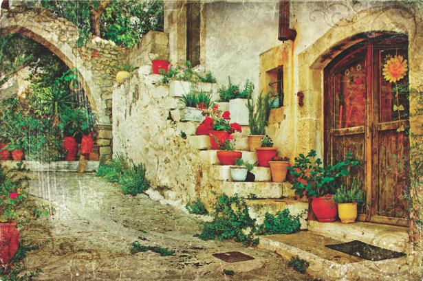 Фотообои итальянский дворик (retro-vintage-0000102)