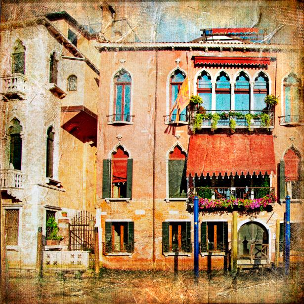 Фотообои Венеция Италия (retro-vintage-0000116)