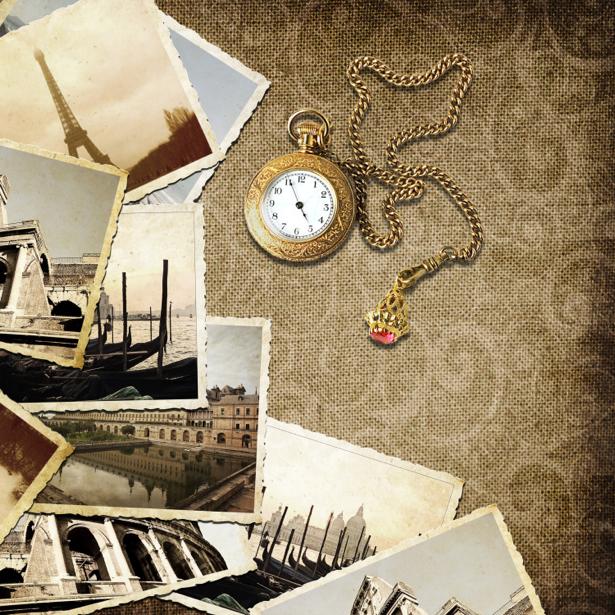 Фотообои фото и карманные часы (retro-vintage-0000187)