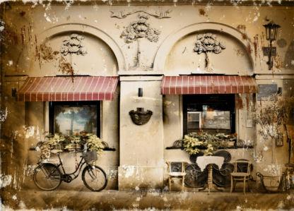 Фотообои Итальянское кафе (retro-vintage-0000379)